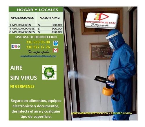 desinfeccion de ambientes con termonebulizacion en seco