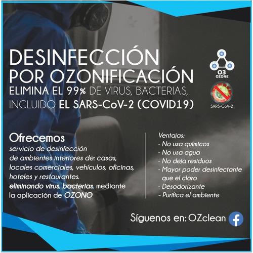 desinfección de ambientes interiores - usando ozono