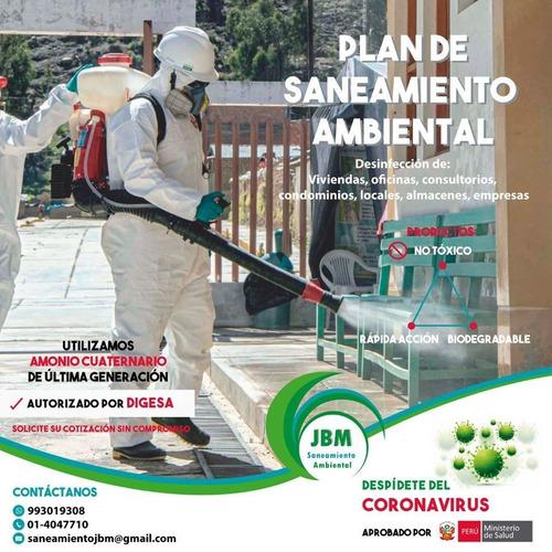 desinfección  de casas y empresas
