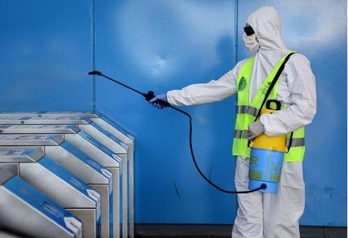 desinfección de consorcios y oficinas contra virus cov