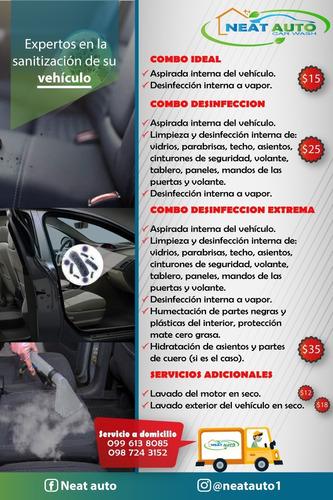 desinfeccion detallada interna del vehiculo
