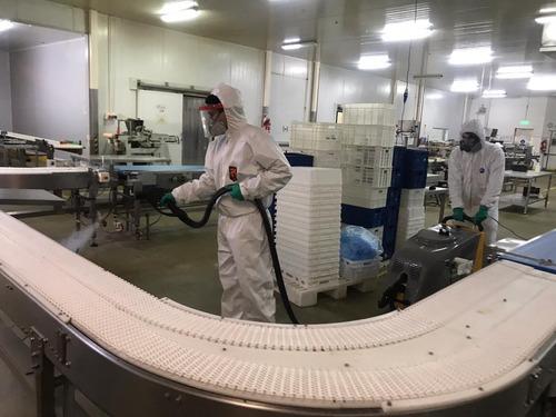 desinfección sanitización vapor seco sars cov 2 empresas