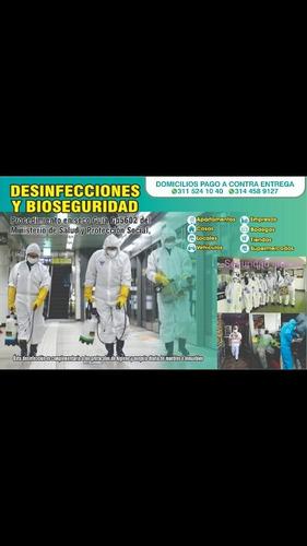 desinfecciones y caretas antifluidos