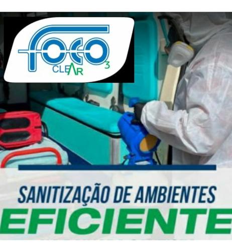 desinfecção e sanitização de ambientes