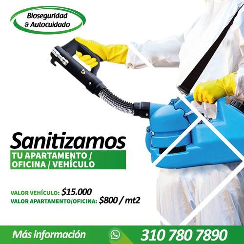 desinfectamos vehículos, apartamentos, oficinas