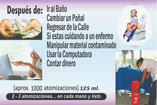 desinfectante de manos (bactericida) 125 ml.