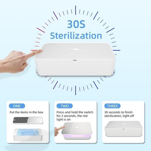 desinfectante esterilizador uv 4 en 1, elimina virus.