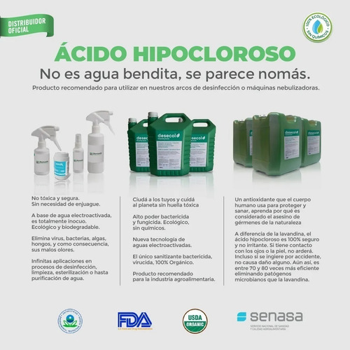 desinfectante no tóxico y ecológico desecol