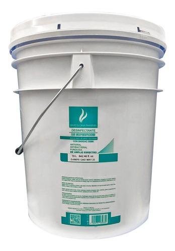 desinfectante sanitizante  de superficies  cubeta 19l