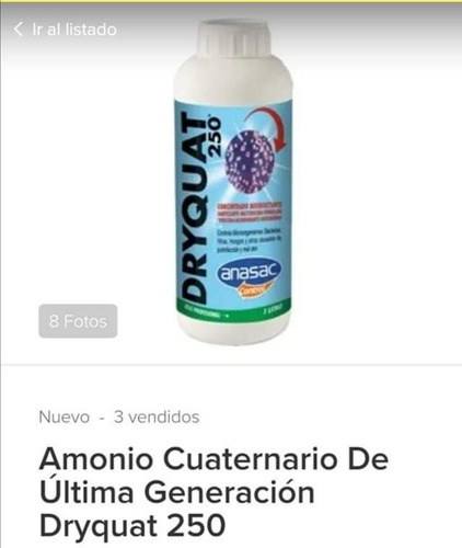 desinfectante virus, bacterias y otros