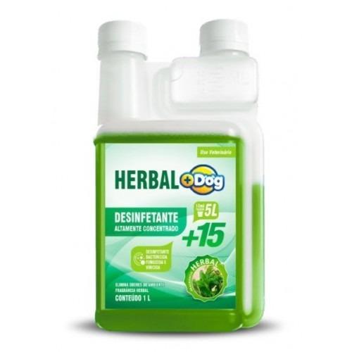desinfetante bactericida herbal 15 mais dog 1 litro