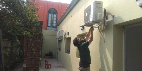 desinstalación-instalación split- carga de gas matriculado.