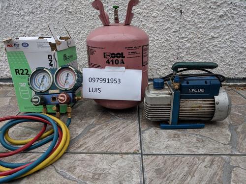 desinstalacion, reparacion, instalacion, recarga de gas