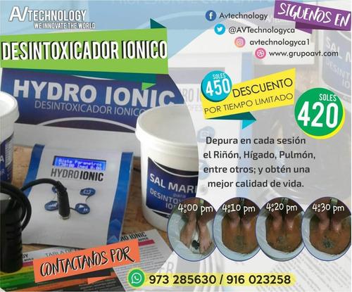 desintoxicador ionico de alto desempeño