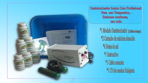 desintoxicador ionico para 2 personas profesional uso rudo