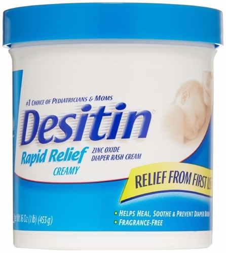 desitin rapid relief crema antipañalitis alivio rapido 1 lb