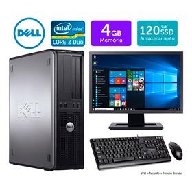 Desktop Barato Dell Optiplex Int C2duo 4gb Ddr3 Ssd120 Mn19w