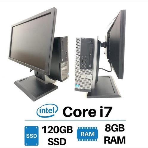 desktop dell i7 ram 8gb com tela 22  pol full hd