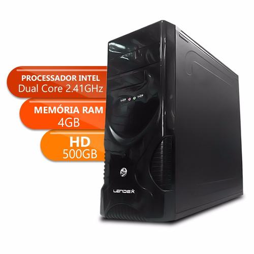 desktop dual core - ipx 1800 - ddr3 4gb - 500gb basic xx x10