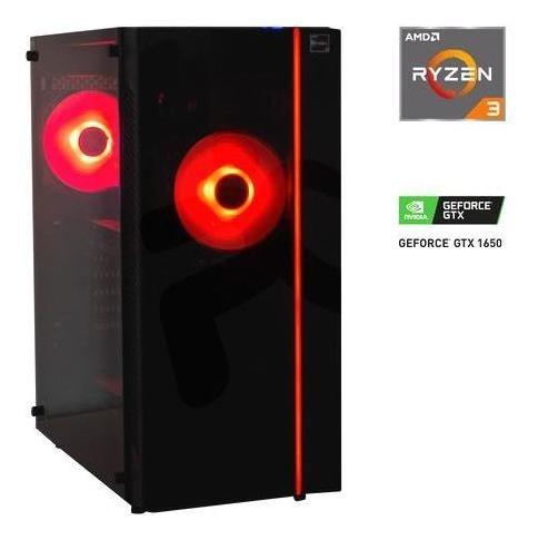 desktop gamer red leeroy amd ryzen 3 3200g 8gb 1tb nvidia