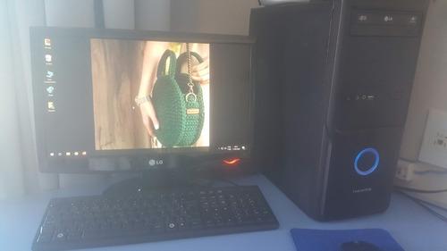 desktop intel core duo 2.8ghz, 4gb ram, 240gb ssd, monitor +