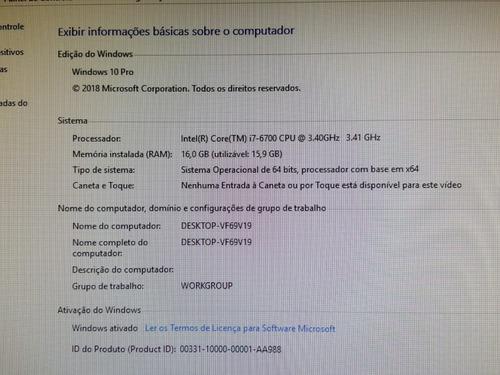 desktop lenovo thinkcentre m900 /i7-6700 3.41/16gb/500gb hd