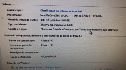 desktop lenovo thinkcentre m90p i5 4gb de ram hd de 160gb