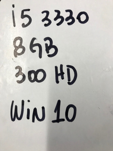 desktop pc intel i5 3330 8gb 320hd asus dvd fonte 300w win10