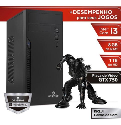 desktop positivo core i3 8gb ram - hd1tb geforce gtx750