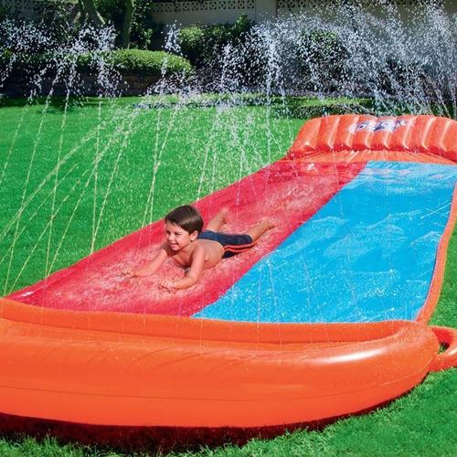 deslizador de agua inflable h20 go! doble cuotas