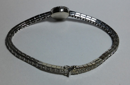 deslumbrante relógio longines ouro 18k platina 60 diamantes