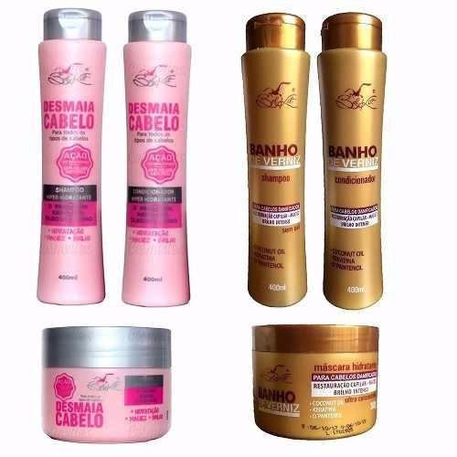 desmaia cabelo + banho verniz 30 produtos revenda atacado