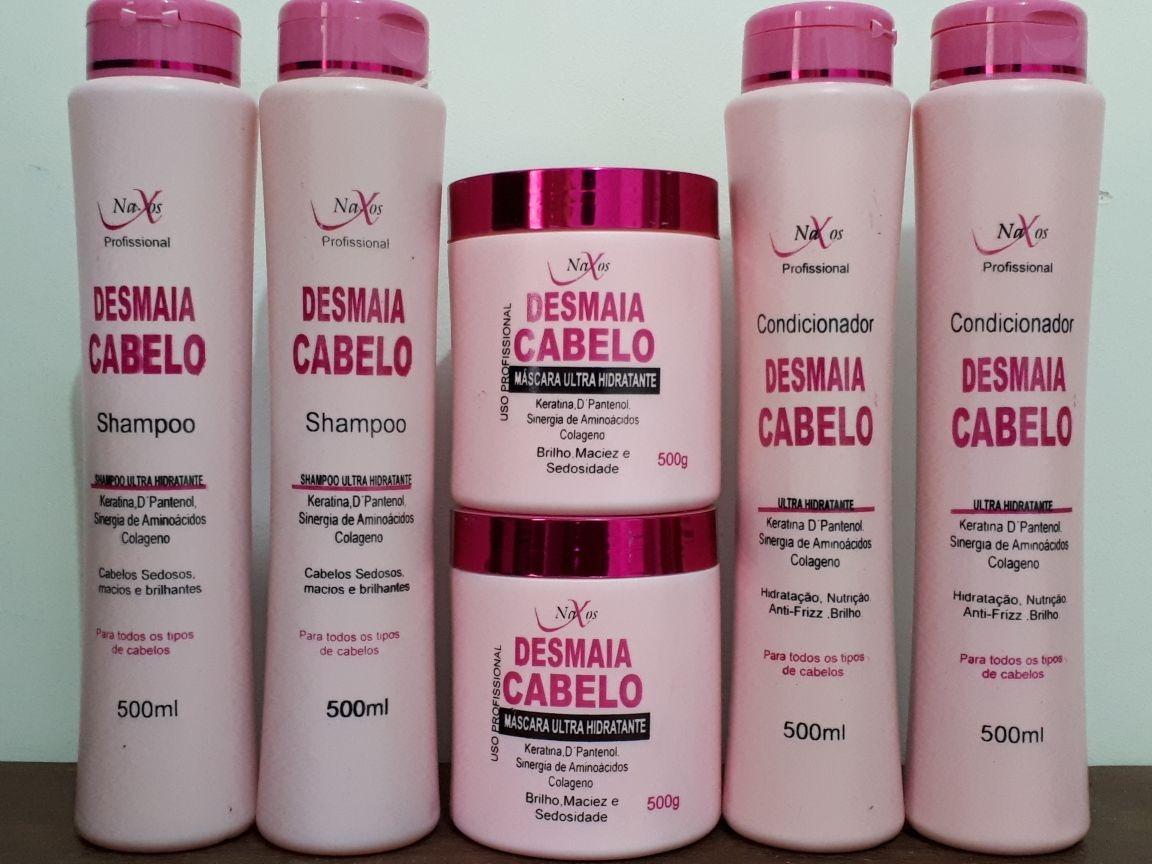 c8a62f98a desmaia cabelo naxos: 2 shampoos, 2 condicionador 2 máscara. Carregando  zoom.