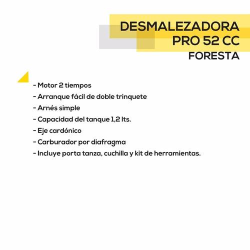 desmalezadora foresta 52 cc pro tanza cuchilla