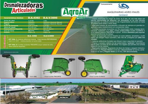 desmalezadora-trituradora articulada agroar da 4392