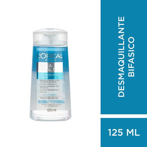desmaquillante bifásico l´oréal paris hidra total 5 x 125ml