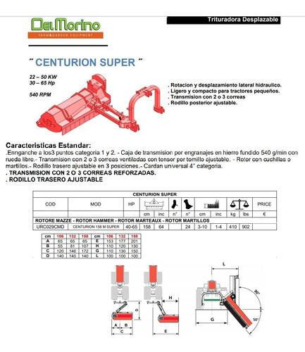 desmenuzadora centurion super 158-martillos