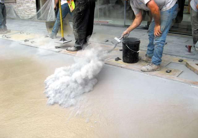 Desmoldante para concreto estampado konkreta desde 50 kg for Cemento estampado precio
