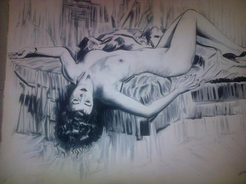 desnudo oleo sobre lienzo original