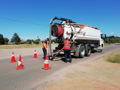 desobstrucción o destape de cañerías - camión desobstructor