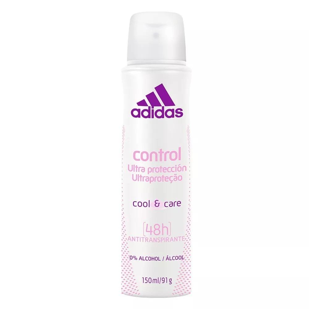 8f3683c1ad Desodorante Aerosol adidas Control Ultra Proteção Fem. 150ml - R$ 13 ...