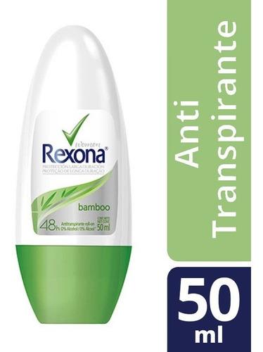desodorante antitransp rollon rexona women bamboo 48h 50ml