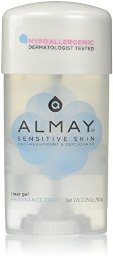 desodorante antitranspirante  gel almay sin fragancia unisex