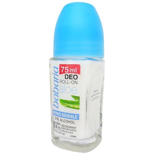 desodorante babaria roll on aloe vera dermosensible 75 ml