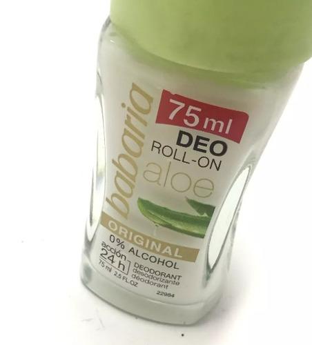 desodorante babaria roll on aloe vera sin alcohol 75 ml