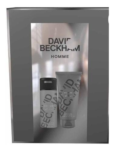desodorante e gel de banho david beckham homme para presente