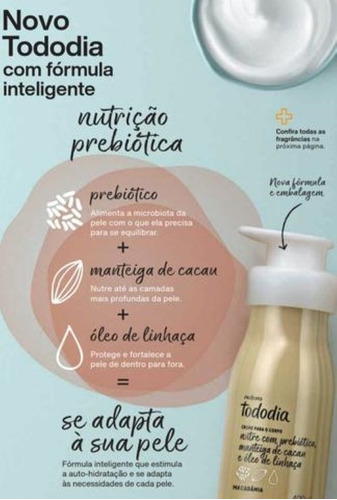 desodorante hidratante corporal natura macadâmia 400ml