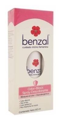 desodorante íntimo benzal odor block en spray 60 ml