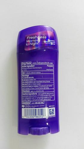 desodorante lady speed stick invisible dry power