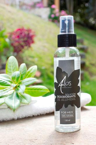 desodorante liquido para hombre de alumbre potasico